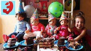 День Рождения Куклы Лизы. Праздник с друзьями, тортом, свечами и фейерверками