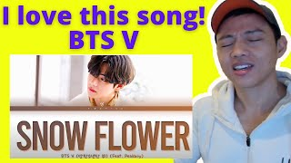 Snow Flower (feat. Peakboy) by BTS V | Reaction