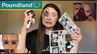 FOLLOWING HALLOWEEN MAKEUP TUTORIALS USING POUNDLAND PRODUCTS | Phoebe Glossop