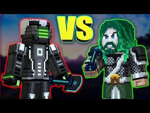 Pixel Gun 3D : Knight set [VS] Future Ninja set