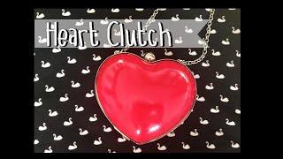 DIY: Bolso con forma de corazón -  heart clutch bag
