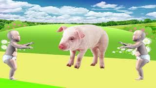 учим животных для самых маленьких на русском - животные для детей картинки - звуки животных #34