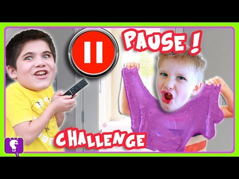 PAUSE CHALLENGE with SLIME! DIY by HobbyKidsTV