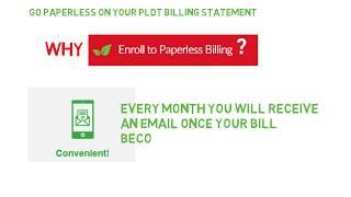 How to enroll for PLDT paperless billing