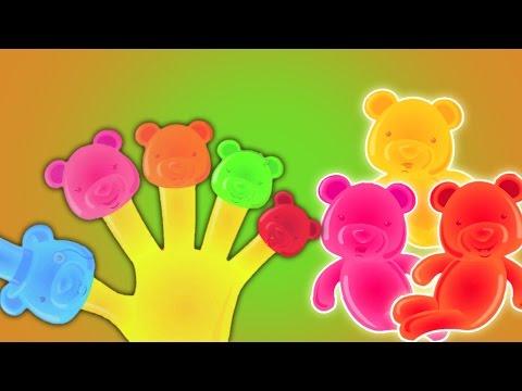 Dedo de la familia   Recopilación para los cabritos   jalea osos