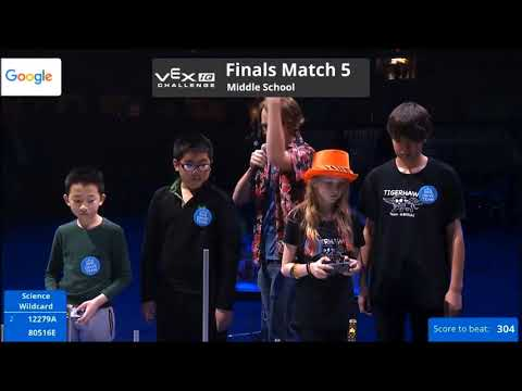 Team 80516E 2018 Worlds Tiger Hawks world finals match