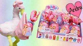 Andre abriendo caja de bebes Baby Born Surprise y jugando con muñecas y juguetes para niñas y niños