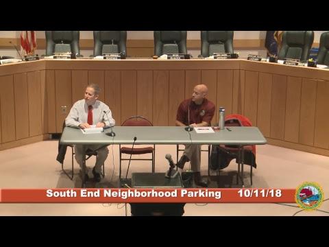 South End Parking Program 10.11.18