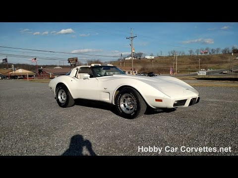 1979 White White Corvette T Top For Sale Video