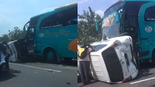 Kecelakaan Bus Gapuraning Rahayu di Tol Cipularang Arah Jakarta, Satu Mobil Terbalik