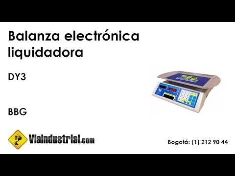 Balanza electrónica liquidadora DY3