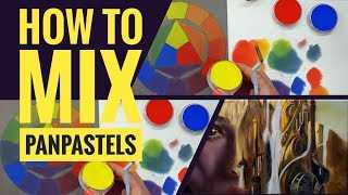 How To Mix Colours  Using PanPastels - Primary Colours