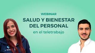 Webinar: Salud y bienestar del personal en el teletrabajo