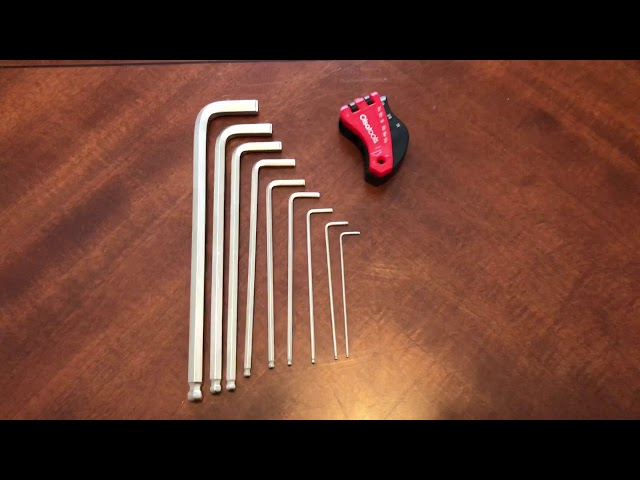 Youtube Video for Hex Key and Allen Wrench Set - Regular or Extractor - SAE and Metric by sixsigma69