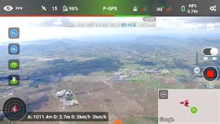 DJI Phantom 3 Drone Height Limit 500 meter No More ... 12 minutes flight to over 1000 meter and back