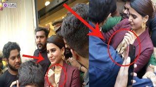 Samantha faced misbehavior of fans in Krishnagiri | Samantha | Filmy Focus - tamil