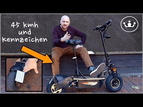 🔴E Scooter mit Straßenzulassung 45kmh : FORCA EVOKING 3