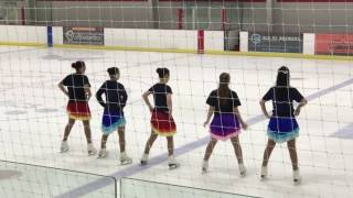 Victoria Wang with Capital Theatre on Ice senior team, June 10, 2017