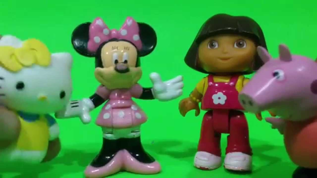 Peppa Pig, Hello Kitty y Minnie Mouse cantan a Dora la exploradora.