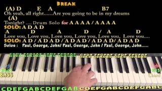 Golden Slumbers/Carry That Weight/The End (The Beatles) Piano Cover Lesson with Lyrics