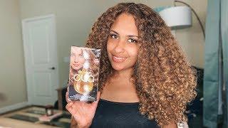 Curly Hair Color Routine | Garnier Olia Dark Blonde