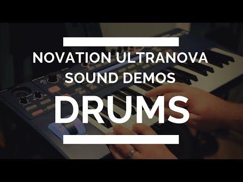 Novation Ultranova - Drum Sound Demos - EVERY SOUND!