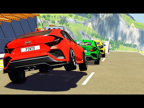 High Speed Jumps #54 - Oddly Satisfying Car Crashes (BeamNG Drive)