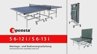 Sponeta S 6-12 i / S 6-13 i - Montageanleitung Tischtennistisch / Instructions for assembly and use