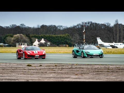 Chris Harris vs the Ferrari 488 Pista & McLaren 600LT   Top Gear