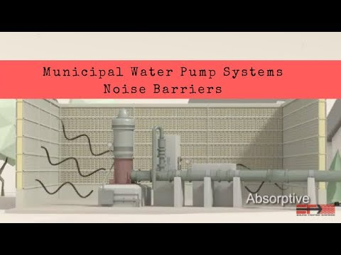 Municipal Water Pump System Sound Wall Applications