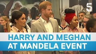 Prince Harry and Meghan Markle visit Nelson Mandela centenary exhibition - 5 News
