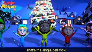 Jingle Bell Rock with LYRICS | Christmas Songs and Carols Sing & Dance Along | Little Action Kids