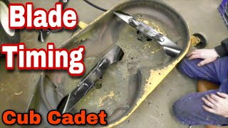 How To Time Blades On A Cub Cadet Riding Mower - with Taryl