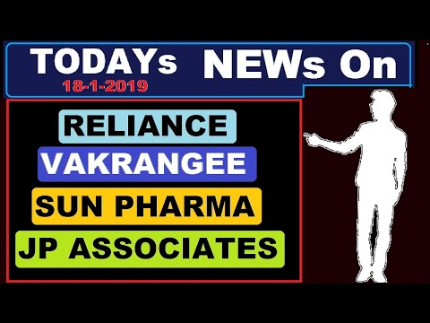 ( Sun Pharma ) ( JP Associate ) ( Reliance )( Vakrangee ) today's news and update in Hindi by SMkC (видео)