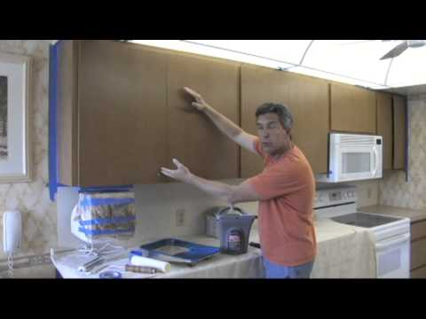 How to paint your kitchen cabinets to look as good as new.
