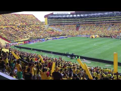 """Barcelona vs Delfín / Recibimiento (30/10/16)"" Barra: Sur Oscura • Club: Barcelona Sporting Club"