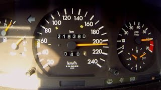 Mercedes E260 W124 Turbo Acceleration & Sound