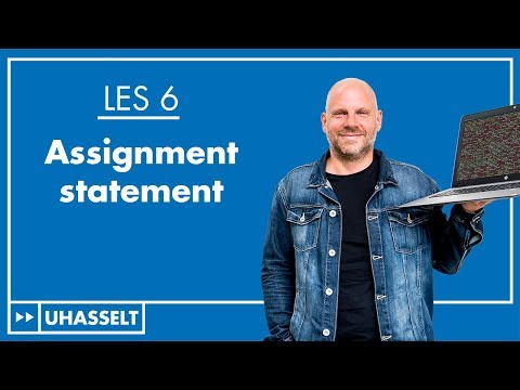 De toekenning (assignment statement)