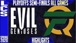 EG vs FLY Highlights ALL GAMES | LCS Spring 2020 Playoffs Semi-finals | Evil Geniuses vs FlyQuest