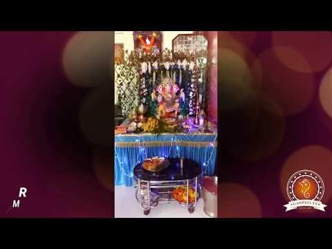 Rahul Shetty Home Ganpati Decoration Video