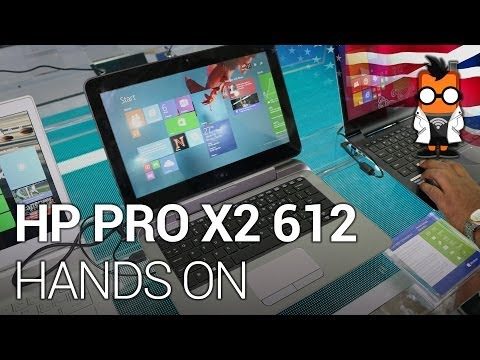 HP Pro X2 612 12.5 professional tablet with keyboard dock hands on at Computex 2014 [ENG]