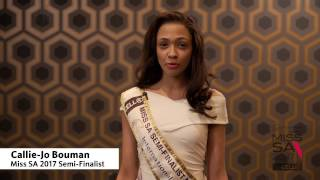 Introduction Video of Callie Jo Bouman Miss South Africa 2017 Contestant from Bellville, Western Cape