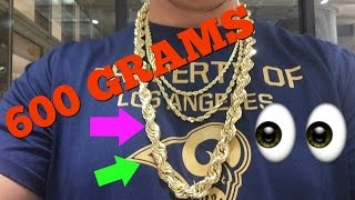600 GRAM ROPE CHAIN (JEWELER VLOG)