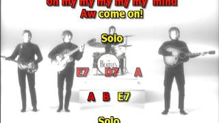 Back in the USSR Beatles best karaoke instrumental lyrics chords