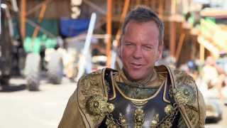 "Pompeii: Kiefer Sutherland ""Corvus"" On Set Movie Interview"