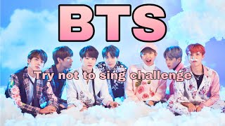 Kpop try not to sing challenge | BTS version