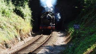 preview picture of video 'Devon Trip Pt. 1 - Dartmouth Steam Railway'
