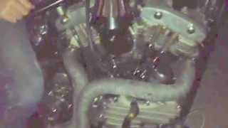 48 panhead amen savior frame 70's old school chopper riding at nite... loud pipes