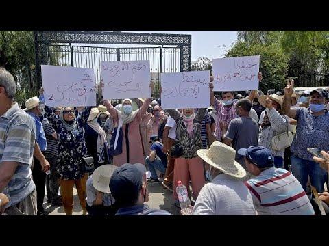 Tunisie : affrontements devant le Parlement après sa suspension Tunisie : affrontements devant le Parlement après sa suspension