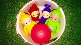TELETUBBIES TOYS Play Jungle Mini Golf Game!